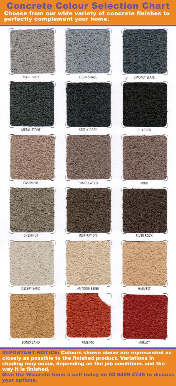 Concrete colour options