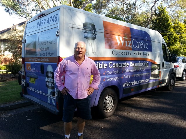 Wizcrete van with Hans