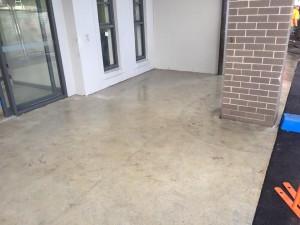 Plain ugly concrete Entry before Wizcrete