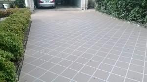 concrete driveway stencil