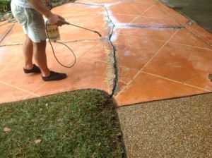 preparing cracked concrete